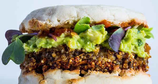 vegetarische recepten veggie burger quinoa burger gezond eten