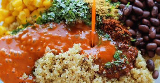vegetarisch recept quinoa enchilada