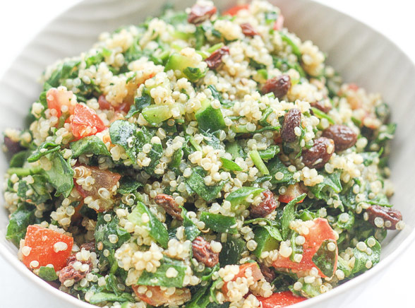 recepten inspiratie quinoa spinazie