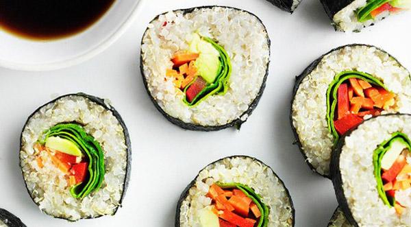 sushi quinoa veganistisch