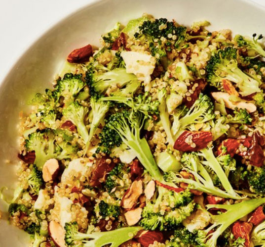 quinoa recept broccoli