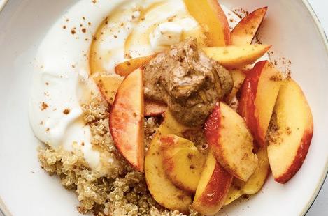 ontbijt gezond quinoa yoghurt