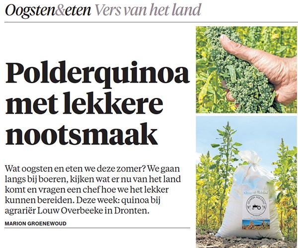 Volkoren quinoa uit Nederland