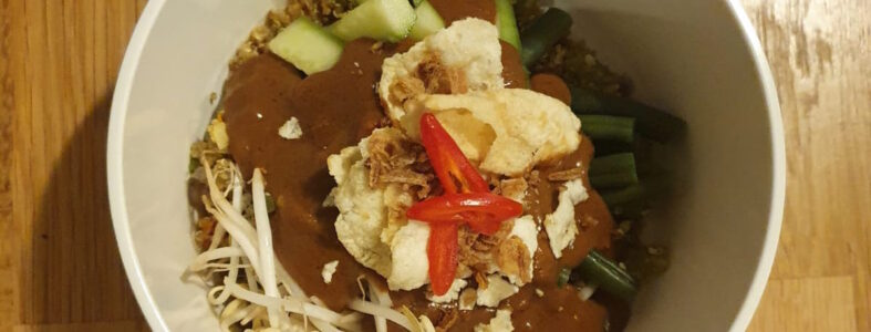 gado gado quinoa bowl